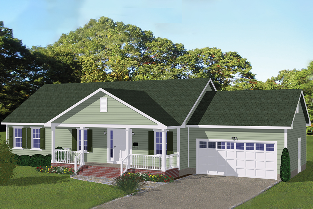 Traditional Home Plan - 3 Bedrms, 2 Baths - 1392 Sq Ft - #200-1051 on