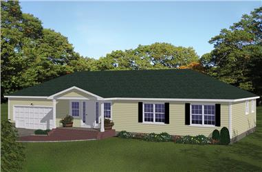 3-Bedroom, 1508 Sq Ft Traditional Home Plan - 200-1054 - Main Exterior