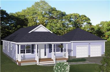 3-Bedroom, 1226 Sq Ft Cottage Home Plan - 200-1055 - Main Exterior