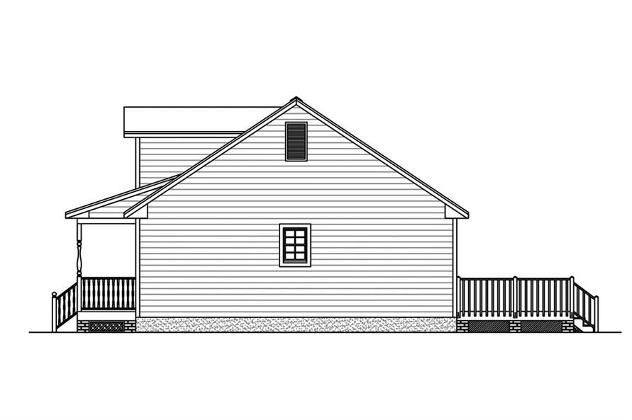 Home Plan Right Elevation of this 3-Bedroom,1381 Sq Ft Plan -200-1057