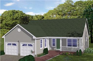 3-Bedroom, 1200 Sq Ft Traditional Home Plan - 200-1059 - Main Exterior