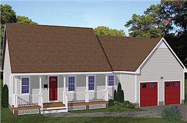 3-Bedroom, 1360 Sq Ft Ranch Home -Plan #200-1063 - Main Exterior