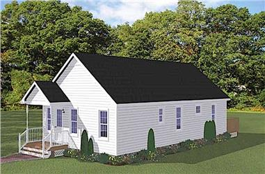 3-Bedroom, 1300 Sq Ft Ranch House - Plan #200-1065 - Front Exterior