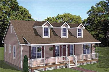 3-Bedroom, 1381 Sq Ft Farmhouse Home - Plan #200-1069 - Main Exterior