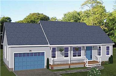 3-Bedroom, 1392 Sq Ft Ranch House - Plan #200-1071 - Front Exterior