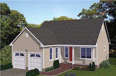 3-Bedroom, 1200 Sq Ft Ranch House - Plan #200-1072 - Front Exterior