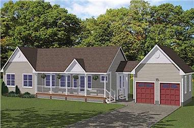 3-Bedroom, 1400 Sq Ft Ranch Home - Plan #200-1073 - Main Exterior