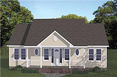 3-Bedroom, 1400 Sq Ft Ranch Home - Plan #200-1074 - Main Exterior