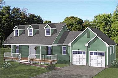 3-Bedroom, 1370 Sq Ft Farmhouse Home - Plan #200-1075 - Front Exterior