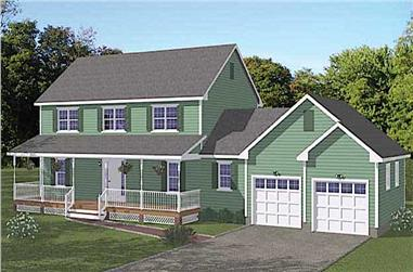 5–6-Bedroom, 2525 Sq Ft Farmhouse Home - Plan #200-1076 - Main Exterior