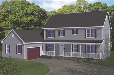 6-Bedroom, 3310 Sq Ft Farmhouse Home - Plan #200-1079 - Main Exterior