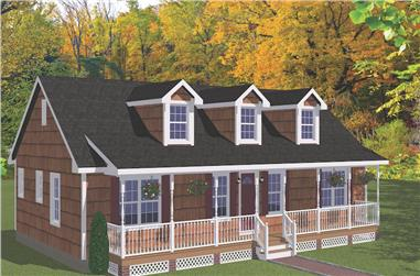 3-Bedroom, 1381 Sq Ft Ranch House - Plan #200-1080 - Front Exterior