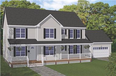 5-Bedroom, 3552 Sq Ft Colonial House - Plan #200-1086 - Front Exterior