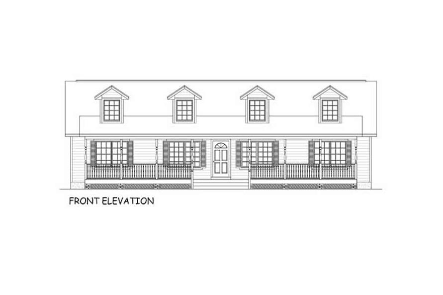 Home Plan Front Elevation of this 3-Bedroom,1538 Sq Ft Plan -200-1087
