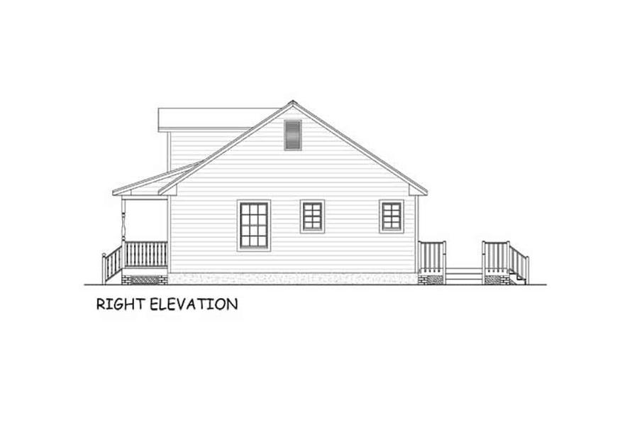 Home Plan Right Elevation of this 3-Bedroom,1538 Sq Ft Plan -200-1087