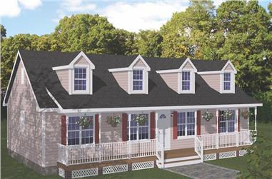 3-Bedroom, 1538 Sq Ft Cape Cod Home - Plan #200-1087 - Main Exterior