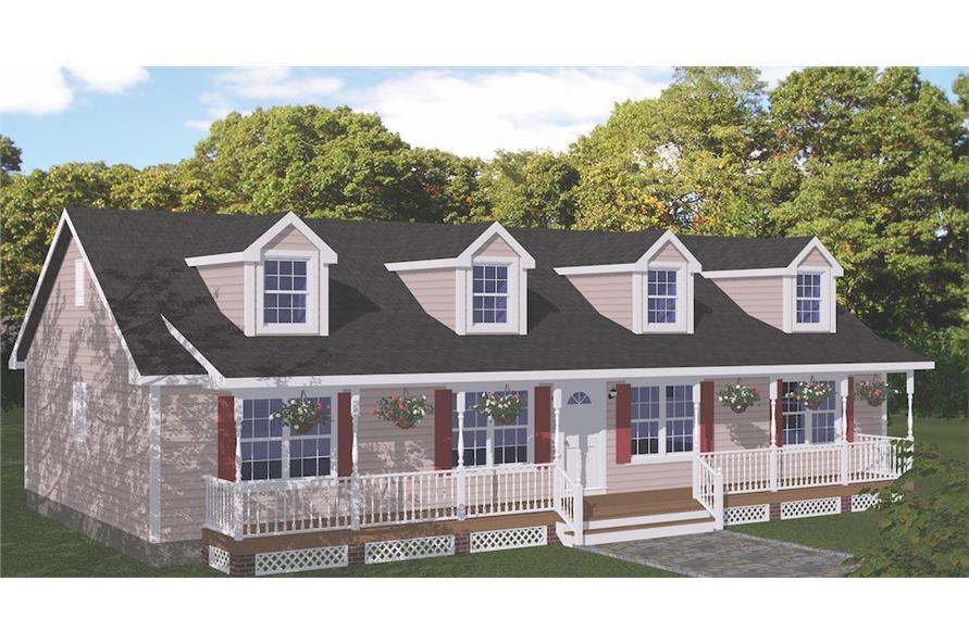 3-Bedroom, 1538 Sq Ft Cape Cod Home - Plan #200-1087 - Main Exterior