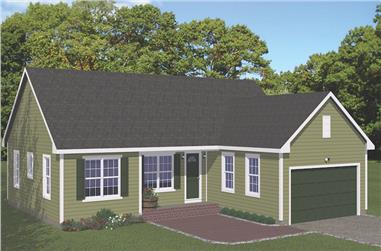 3-Bedroom, 1380 Sq Ft Traditional House - Plan #200-1088 - Front Exterior