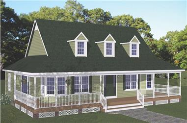 3-Bedroom, 1704 Sq Ft Farmhouse House - Plan #200-1089 - Front Exterior