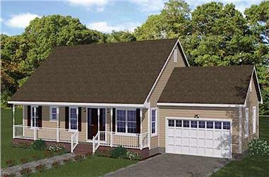 3-Bedroom, 1268 Sq Ft Country Home - Plan #200-1090 - Main Exterior