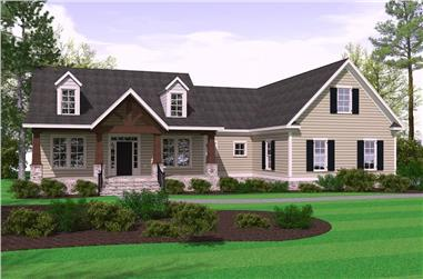 3-Bedroom, 2509 Sq Ft Farmhouse Home - Plan #201-1000 - Main Exterior