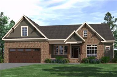 4-Bedroom, 2587 Sq Ft Farmhouse House Plan - 201-1001 - Front Exterior
