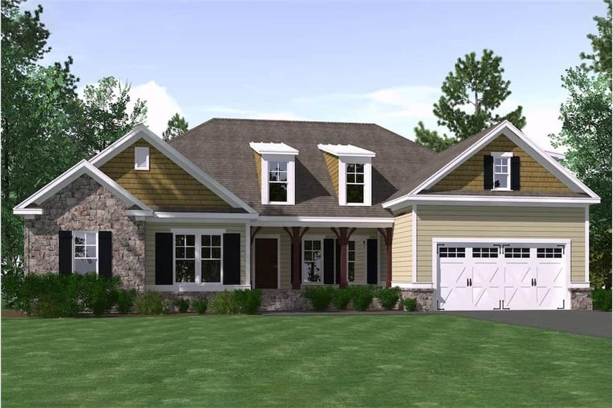 4-Bedroom, 2568 Sq Ft Farmhouse House Plan - 201-1002 - Front Exterior