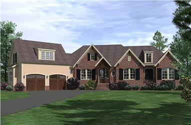 3-Bedroom, 3110 Sq Ft Traditional House Plan - 201-1004 - Front Exterior
