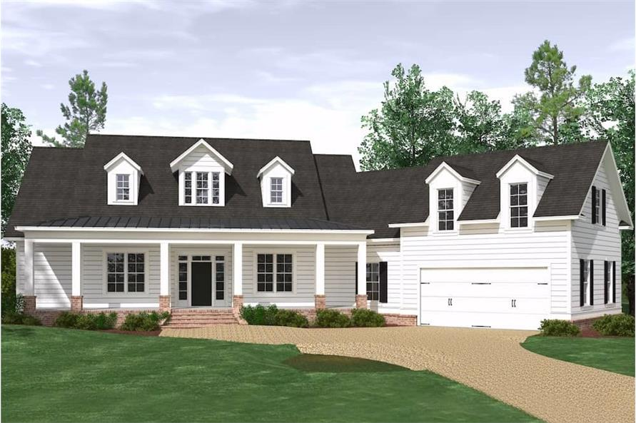 3-Bedroom, 3280 Sq Ft Farmhouse House Plan - 201-1005 - Front Exterior