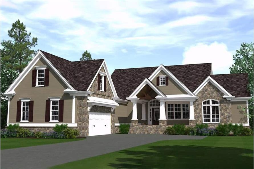 3-Bedroom, 2723 Sq Ft Farmhouse House Plan - 201-1006 - Front Exterior
