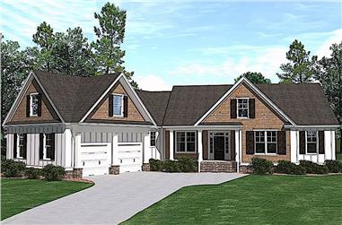 4-Bedroom, 2995 Sq Ft Farmhouse House Plan - 201-1008 - Front Exterior