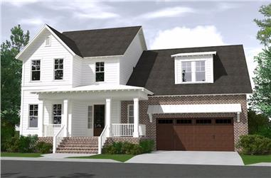 4-Bedroom, 3287 Sq Ft Farmhouse House Plan - 201-1009 - Front Exterior