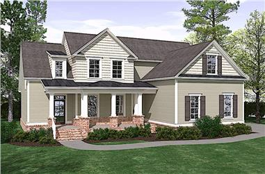 4-Bedroom, 2683 Sq Ft Craftsman Home Plan - 201-1010 - Main Exterior