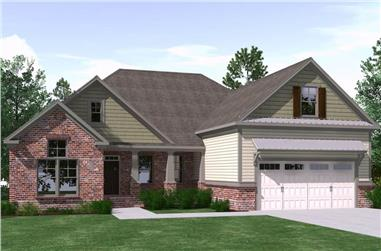 3-Bedroom, 2744 Sq Ft Farmhouse House Plan - 201-1011 - Front Exterior