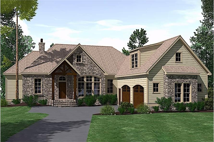 3-Bedroom, 2527 Sq Ft Southern House - Plan #201-1012 - Front Exterior