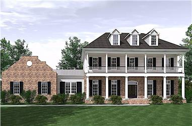 3-Bedroom, 3672 Sq Ft Traditional Home - Plan #201-1013 - Main Exterior