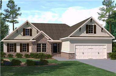 3-Bedroom, 3059 Sq Ft Farmhouse Home Plan - 201-1014 - Main Exterior
