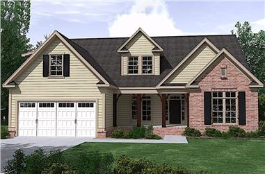4-Bedroom, 3042 Sq Ft Farmhouse Home Plan - 201-1015 - Main Exterior