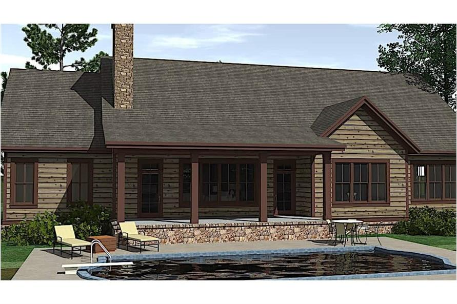 Pool of this 3-Bedroom,3742 Sq Ft Plan -3742