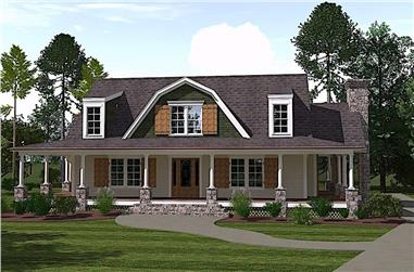 4-Bedroom, 2996 Sq Ft Farmhouse Home - Plan #201-1017 - Main Exterior