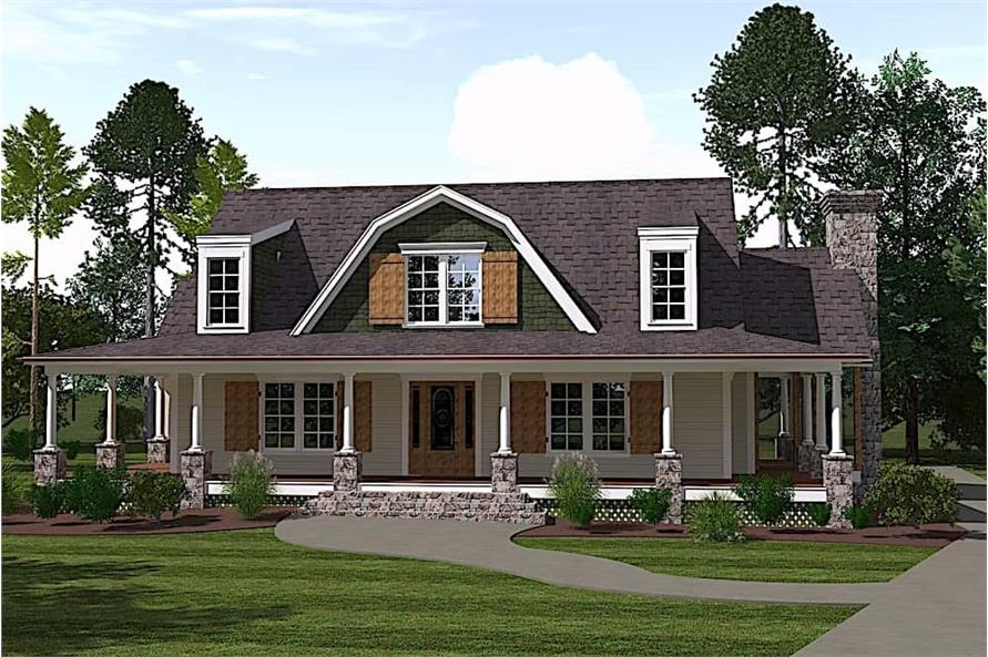4-Bedroom, 2996 Sq Ft Farmhouse Home - Plan #201-1017 - Main Exterior