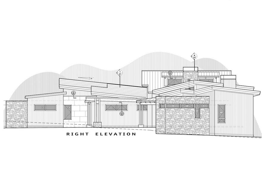 Home Plan Right Elevation of this 3-Bedroom,4036 Sq Ft Plan -202-1001