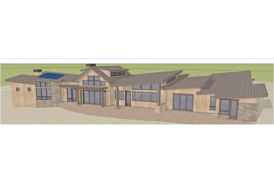 Home Plan Rendering of this 3-Bedroom,4036 Sq Ft Plan -4036