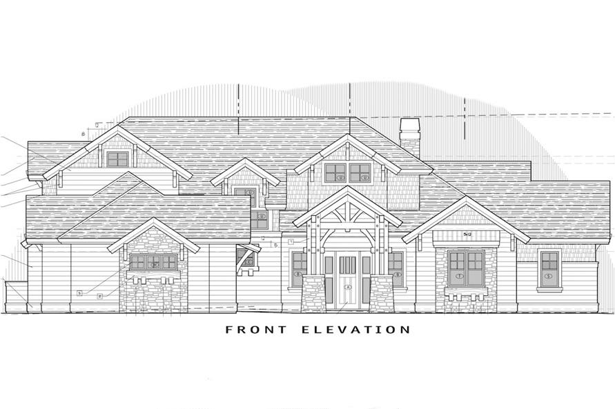 Home Plan Front Elevation of this 3-Bedroom,3959 Sq Ft Plan -202-1002