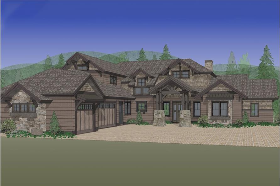 Home Plan Rendering of this 3-Bedroom,3959 Sq Ft Plan -3959