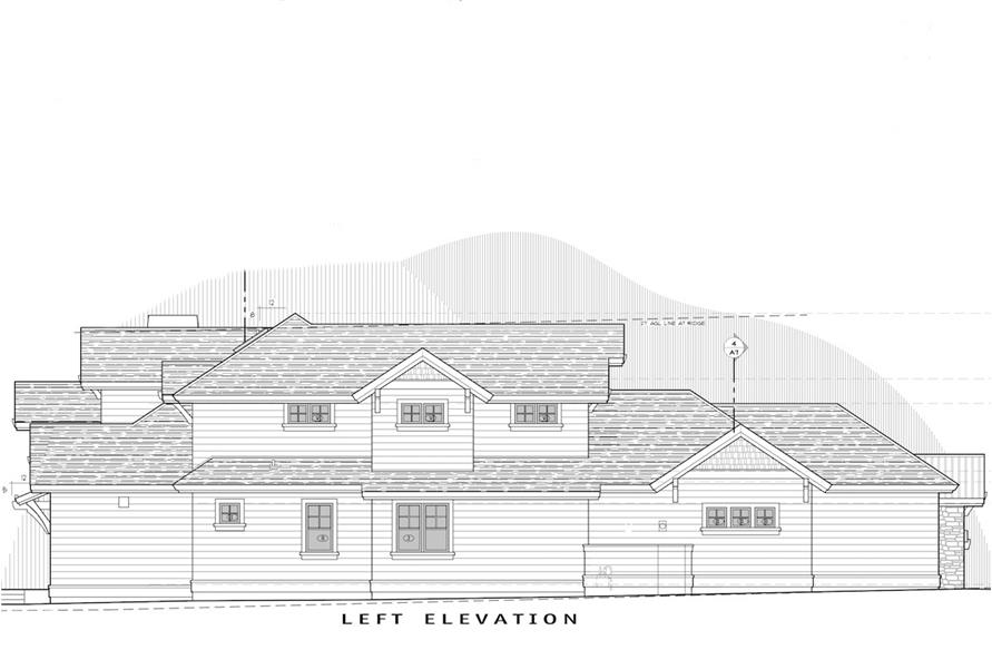 Home Plan Left Elevation of this 3-Bedroom,3959 Sq Ft Plan -202-1002
