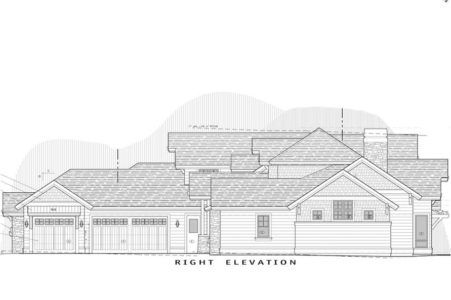 Home Plan Right Elevation of this 3-Bedroom,3959 Sq Ft Plan -202-1002