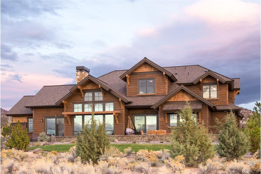 Rear View of this 3-Bedroom,3959 Sq Ft Plan -3959