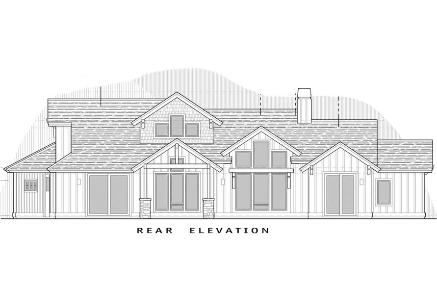 Home Plan Rear Elevation of this 3-Bedroom,2536 Sq Ft Plan -202-1003