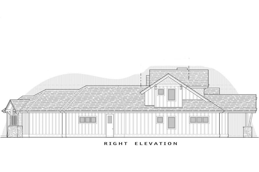 Home Plan Right Elevation of this 3-Bedroom,2536 Sq Ft Plan -202-1003